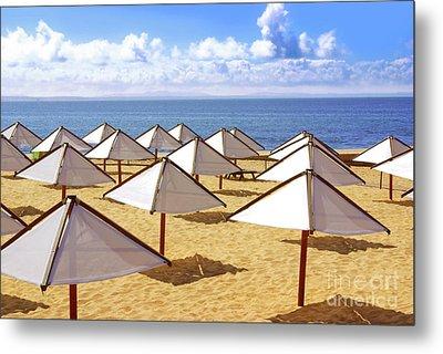 White Sunshades Metal Print by Carlos Caetano