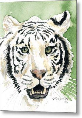 White Tiger Metal Print by Mark Jennings