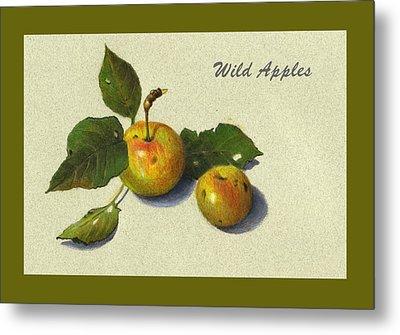 Wild Apples And Leaves Metal Print by Joyce Geleynse