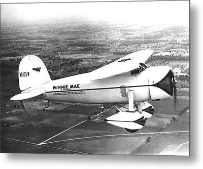 Wiley Posts Plane Winnie Mae Overhauled Metal Print
