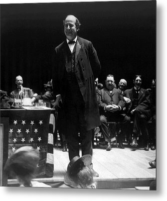 William Jennings Bryan Delivering Metal Print by Everett