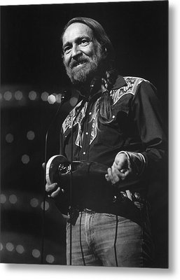 Willie Nelson, Cma Entertainer Metal Print by Everett
