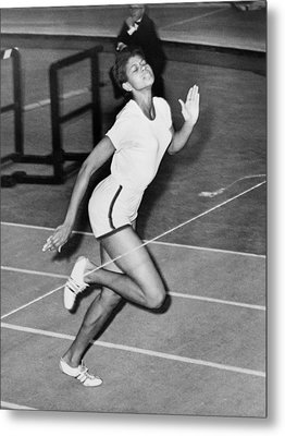 Wilma Rudolph Sets A World Record Metal Print by Everett