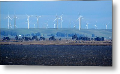 Wind Farm On The Delta Metal Print