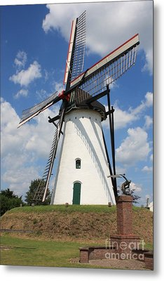 Windmill And Blue Sky Metal Print by Carol Groenen
