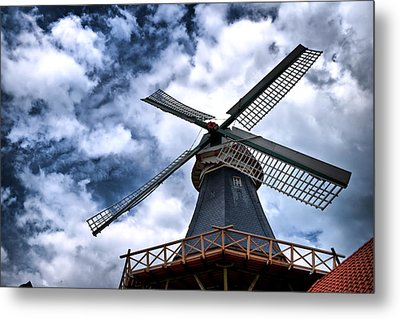 Windmill In Northern Germany 2 Metal Print by Edward Myers