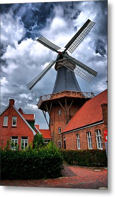 Windmill In Northern Germany Metal Print by Edward Myers