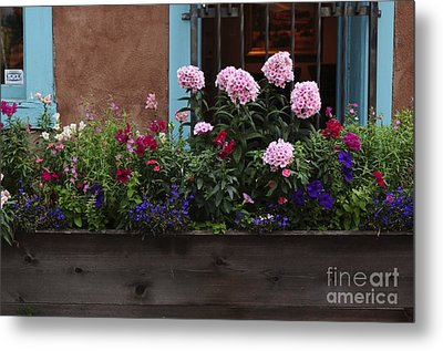 Metal Print featuring the photograph Window-box Flowers  by Sherry Davis