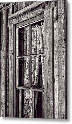 Window View Metal Print by Nancie Rowan