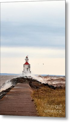 Windy Point Metal Print by Whispering Feather Gallery