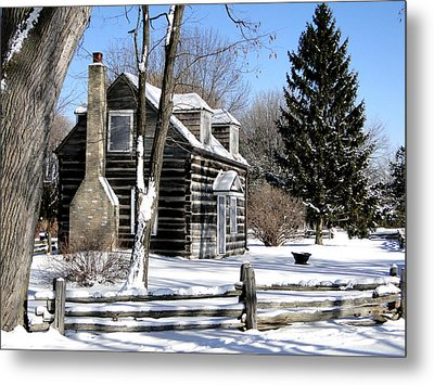 Winter Cabin 1 Metal Print by Bruce Ritchie