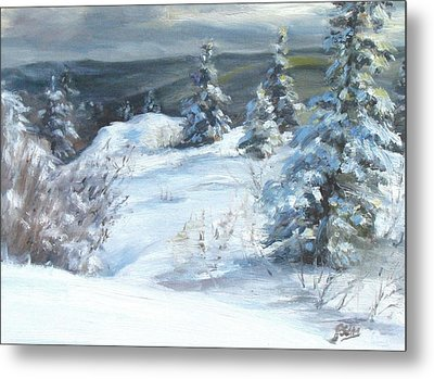Winter Escape Metal Print by Patricia Seitz
