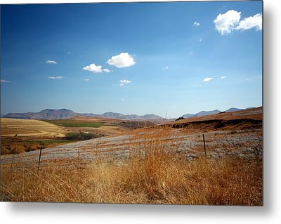 Winter Landscape In South Africa Metal Print