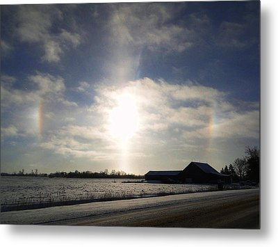Winter Sun Dogs Metal Print by Bruce Ritchie
