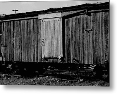 Metal Print featuring the photograph Wood Boxcar by Elizabeth  Doran