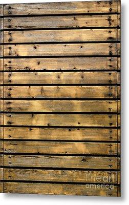 Wood Planks Metal Print by Carlos Caetano