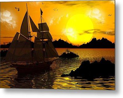 Wooden Ships Metal Print by Robert Orinski