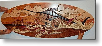 Woodwork Metal Print by Carey Chen