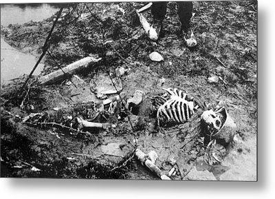 World War I, Skeleton Of A Dead German Metal Print by Everett