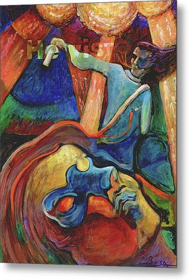 Wounded Prophet Metal Print by William Sosa