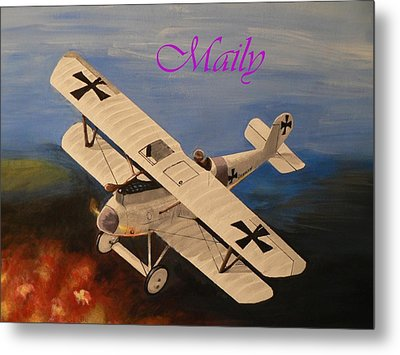 Wwi Aplane Metal Print by Maily