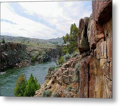 Wyoming River Metal Print by Wayne Toutaint