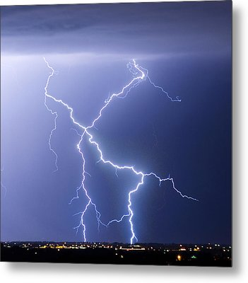 X Lightning Bolt In The Sky Metal Print by James BO  Insogna