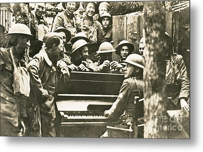 Yankee Soldiers Around A Piano Metal Print