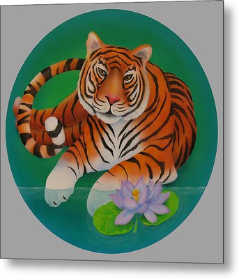 Year Of The Tiger Metal Print by Marcia  Perry