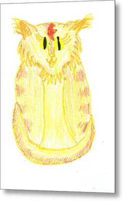 Yellow Cat Metal Print by Jeannie Atwater Jordan Allen