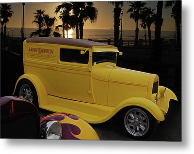 Metal Print featuring the photograph Yellow Panel by Bill Dutting