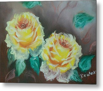 Yellow Roses Metal Print by Raymond Doward