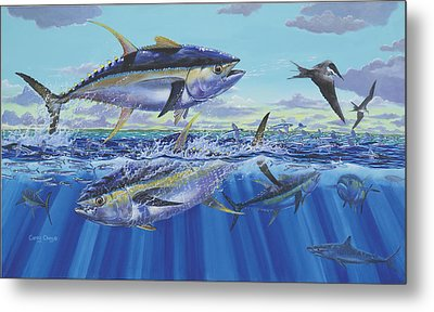 Yellowfin Bust Metal Print by Carey Chen