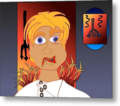 Yes Chef Metal Print by Artzilla Ink