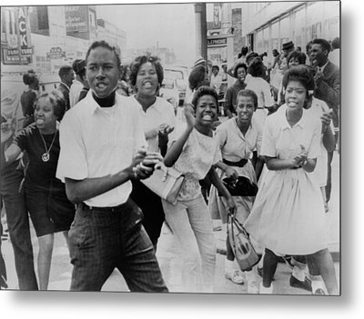 Young African American Demonstrators Metal Print by Everett