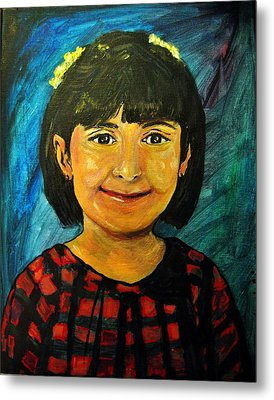 Metal Print featuring the pastel Young Girl 4 by Amanda Dinan