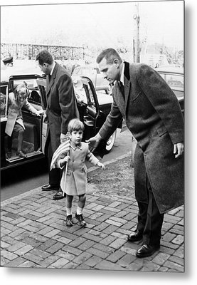 Young John And Caroline Kennedy Metal Print by Everett