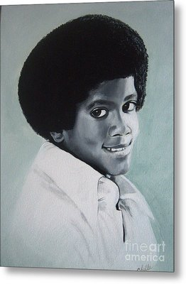 Young Michael Jackson Metal Print by Chelle Brantley