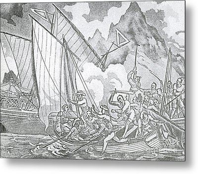 Zheng Yis Pirates Capture John Turner Metal Print by Photo Researchers