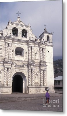 Metal Print featuring the photograph Zunil Church Guatemala by John  Mitchell