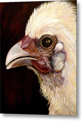 Metal Print featuring the painting  Baby Chick by Marie Hamby