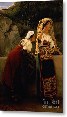 Italian Women From Abruzzo  Metal Print by Sir Lawrence Alma-Tadema
