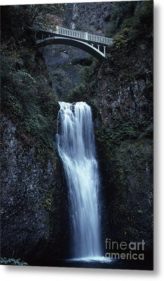 Metal Print featuring the photograph  Multnomah Falls by Edward R Wisell