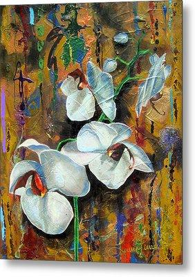 Orchid Yo Metal Print by Laura Pierre-Louis