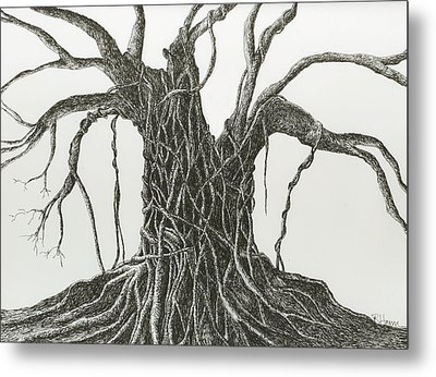 Metal Print featuring the drawing  Patience by Rachel Hames