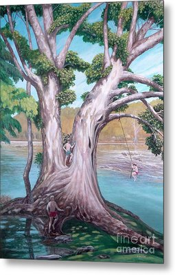 Sycamore On The Shenandoah River Metal Print by Frances  Dillon