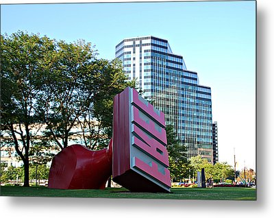 World's Largest Free Stamp Cleveland Ohio Metal Print