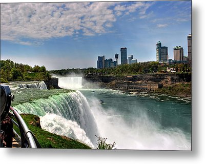 004 Niagara Falls  Metal Print by Michael Frank Jr