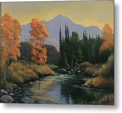 031106-1620   Sunset Over Thunder Butte Metal Print by Kenneth Shanika
