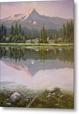 060923-2430  Reflections At Days End   Metal Print by Kenneth Shanika